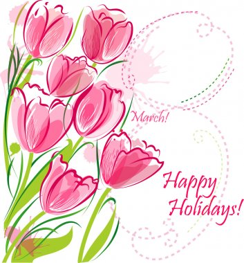Card for 8 March holiday