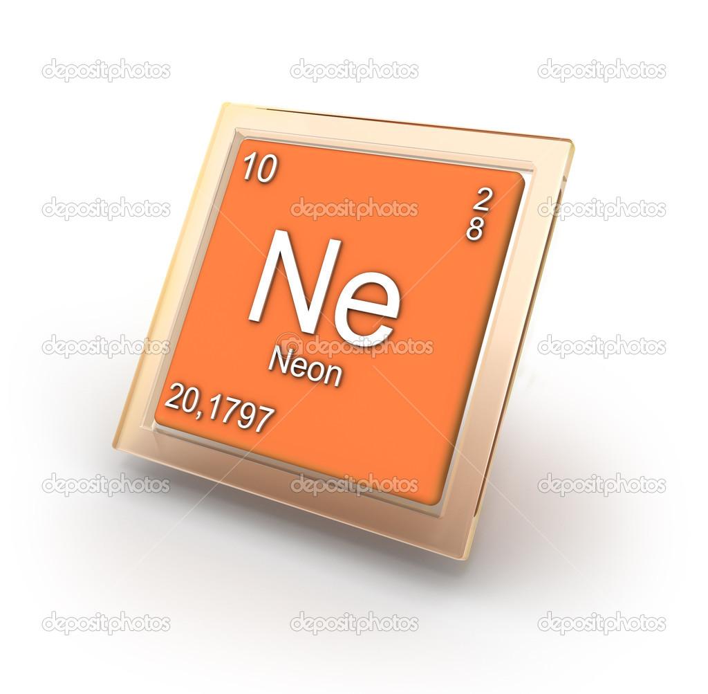 muestra de nen del elemento qumico fotos de stock