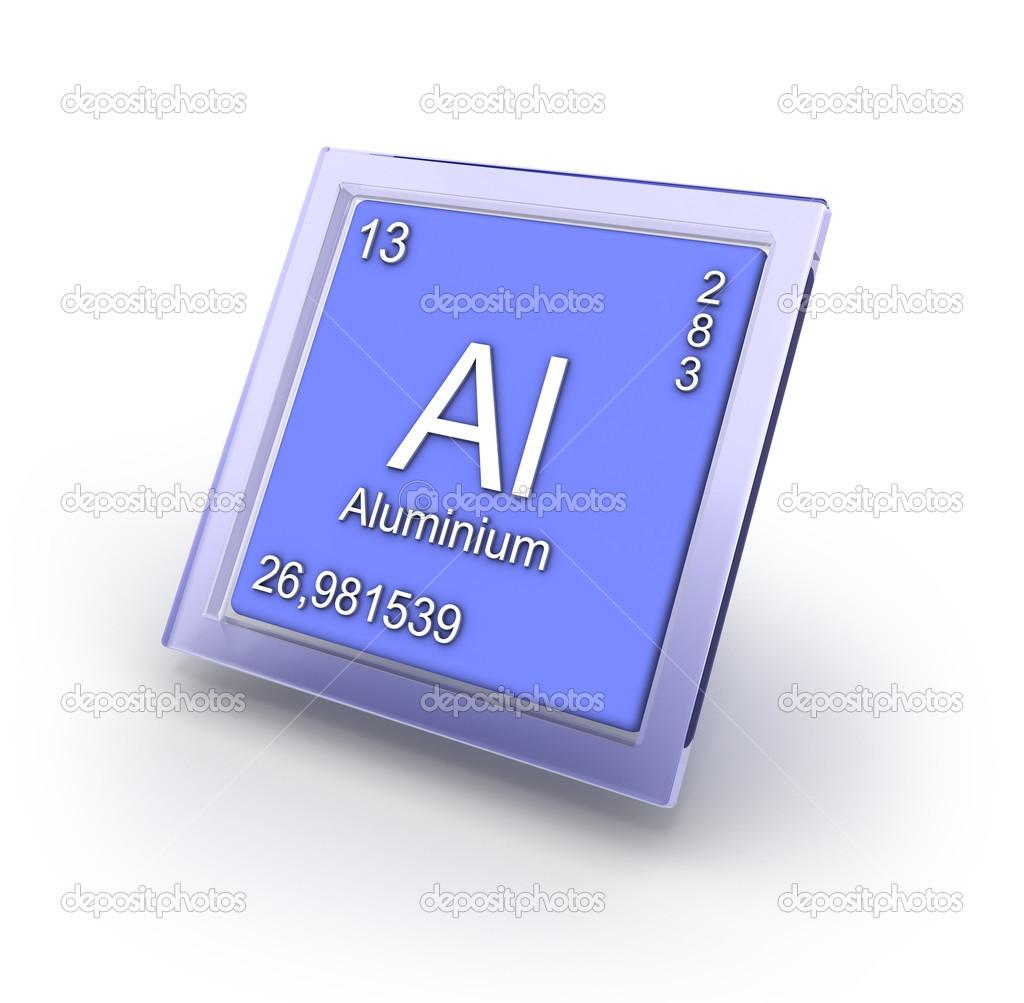signo de aluminio elemento químico — Fotos de Stock © Ola-Ola #46597377