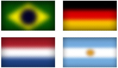 Flags of World Cup semi-finals members