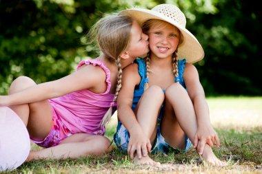 Kiss on my sisters cheek