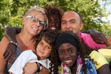 Multi etnic family