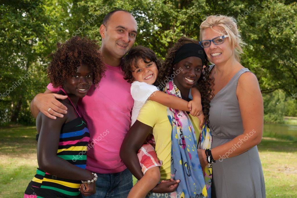 Great multi happy family