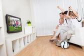 Fényképek Fiatal család focit