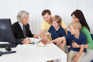 Family in real-estate agency