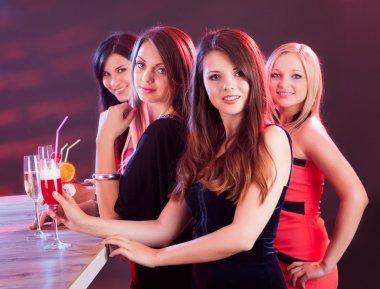 Beautiful women on a night out