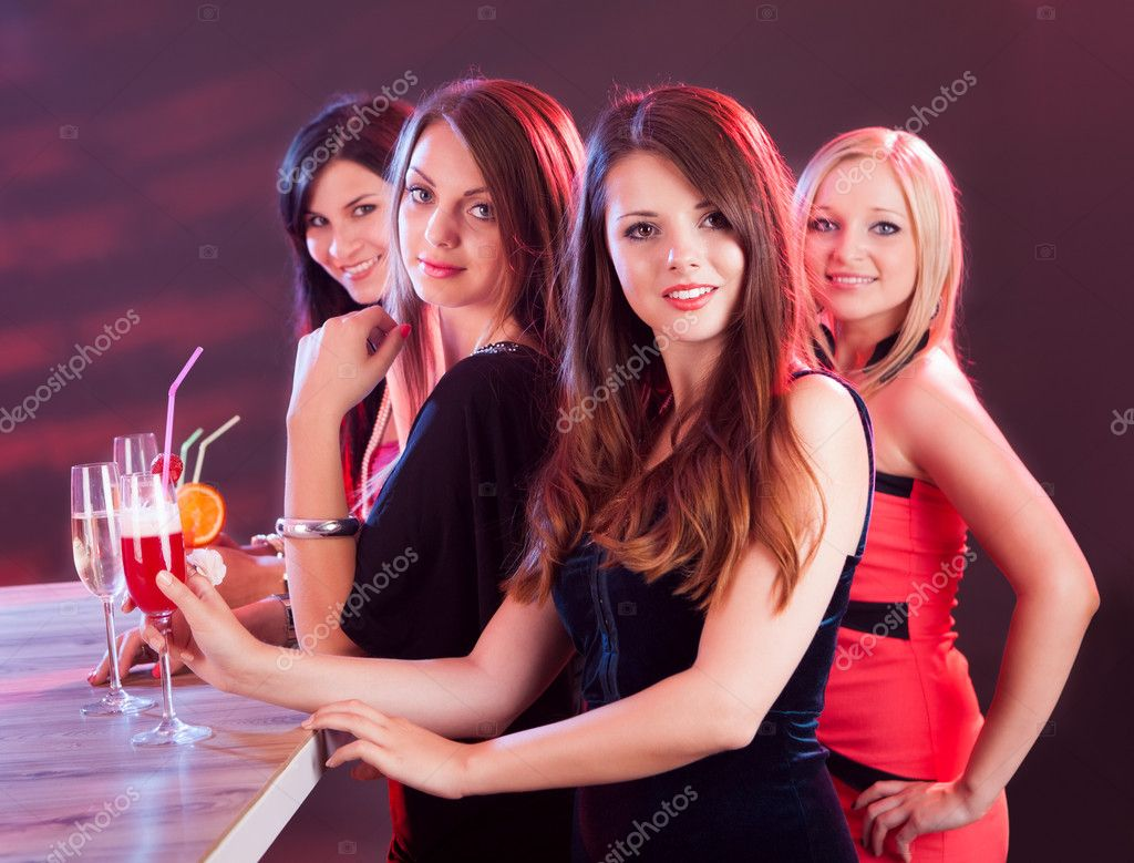 Beautiful women on a night out