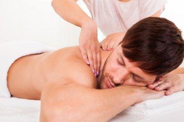 Man having a shoulder massage