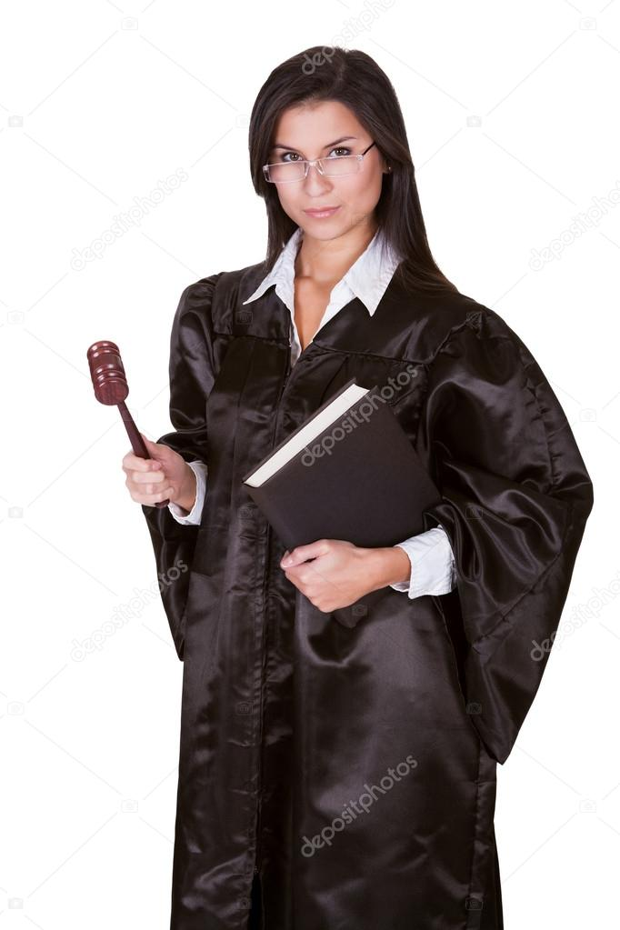 Female judge in a gown — Stock Photo © AndreyPopov #15731369