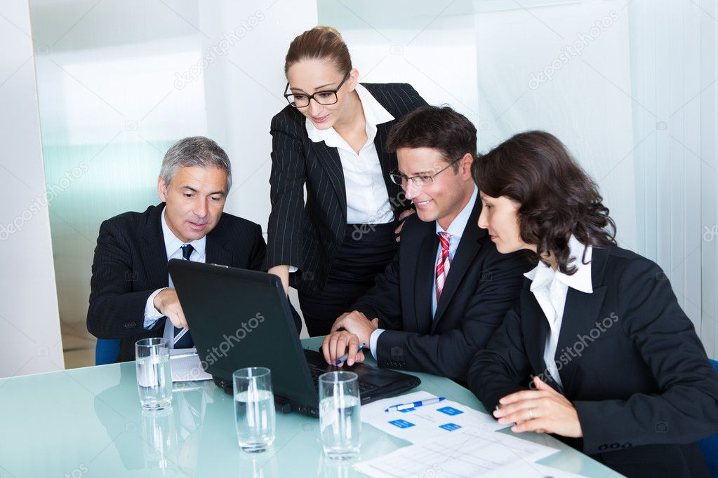 Business team have a meeting