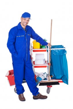 Portrait Of Smiling Cleaner