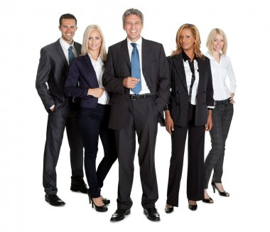 Successful business team standing