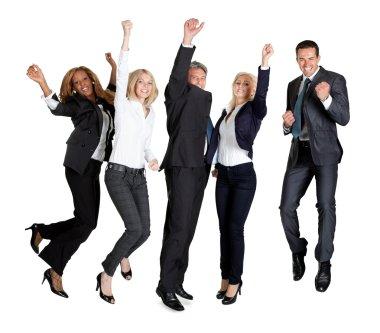 Multi ethnic team of business