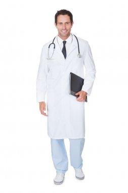 Portrait of friendly doctor