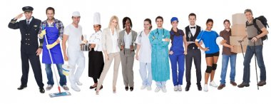 Group of representing diverse professions