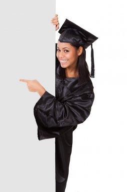 Graduate Woman Holding Placard