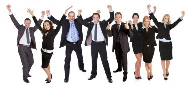 Group of excited business