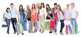 Fotografie große Gruppe mit Einkaufstaschen