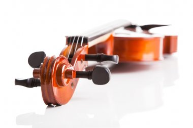 Close-up Of Vintage Violin