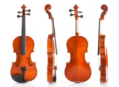 Vintage Violin From Four Sides