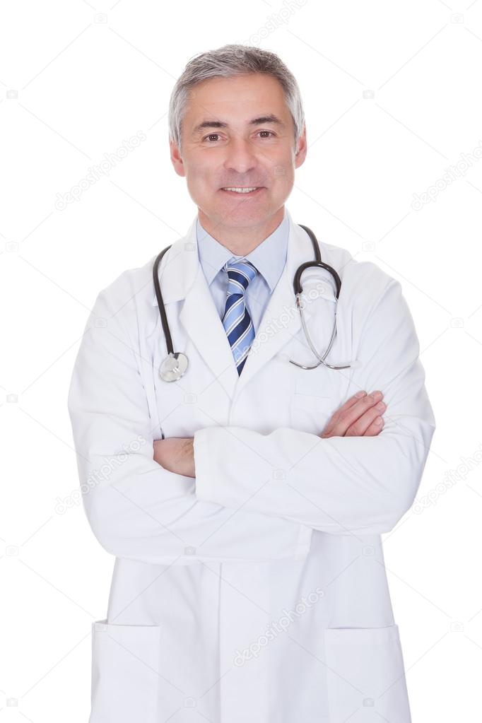 Portrait Of Happy Mature Male Doctor