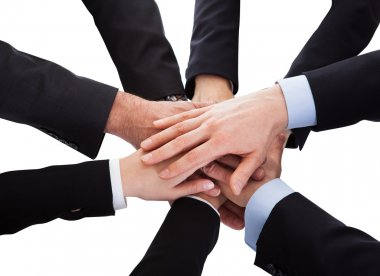 Business People Stacking Hand Over Each Other