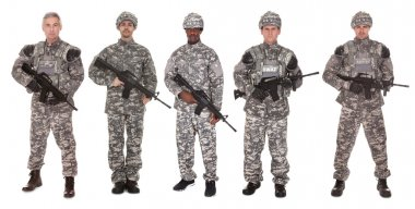 Group Of Soldier With Rifle