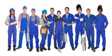 Group Of Industrial Workers