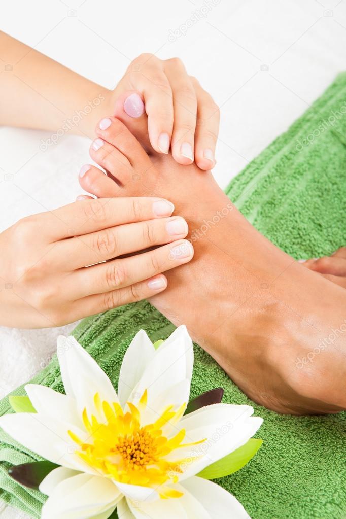 Woman Feet Undergoing Massage