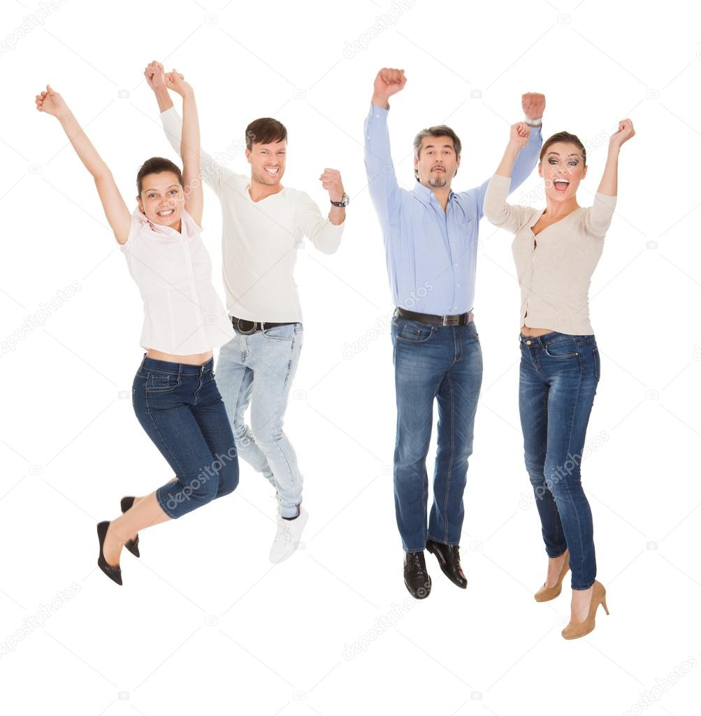 Group Of A Happy People
