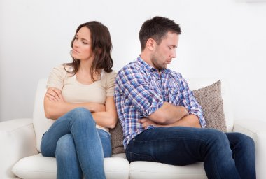 Displeased Couple