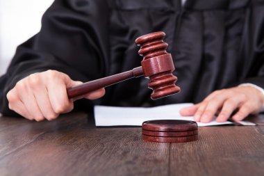 Judge Holding Mallet
