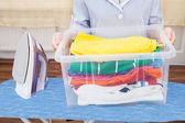 Fotografie Koš na prádlo hospodářství služka