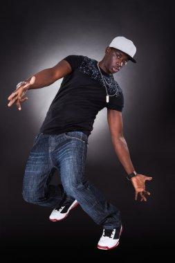 African Young Man Dancing