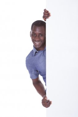African Man With White Board