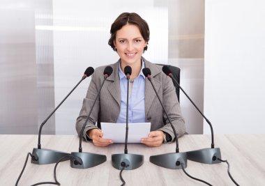 Businesswoman Giving Speech