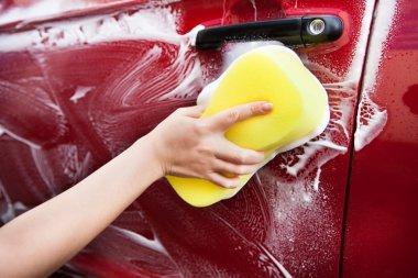 Hand Hold Sponge Over Car