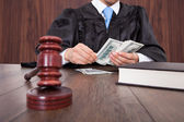 Fotografie Judge Counting Money
