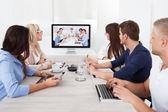 Fotografie Business Team Oberarzt video-Konferenz