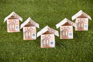 Euro Houses On Grassy Land