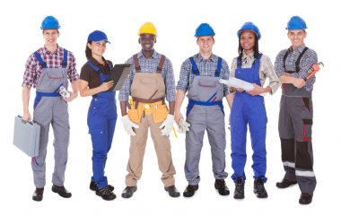 Portrait Of Multiethnic Engineers