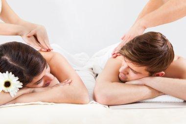 Couple Receiving Back Massage