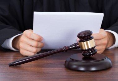 Judge Reading Documents