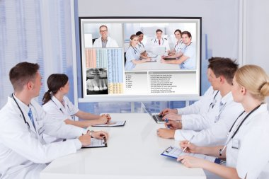 Doctors Having Video Conference Meeting
