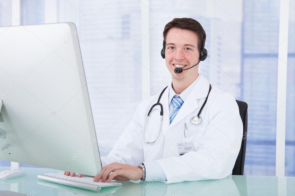 Doctor Wearing Headset