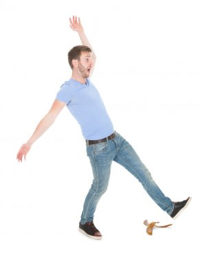 Man Slipping