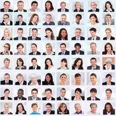 Koláž podnikatelů s úsměvem