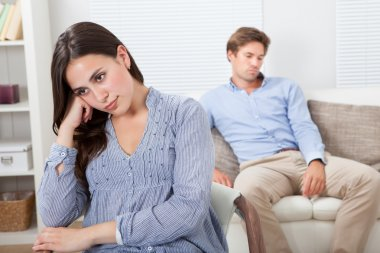Upset Woman With Man