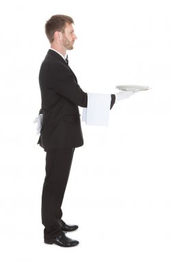Waiter Holding  Tray
