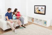 Fényképek családi tv-nézés